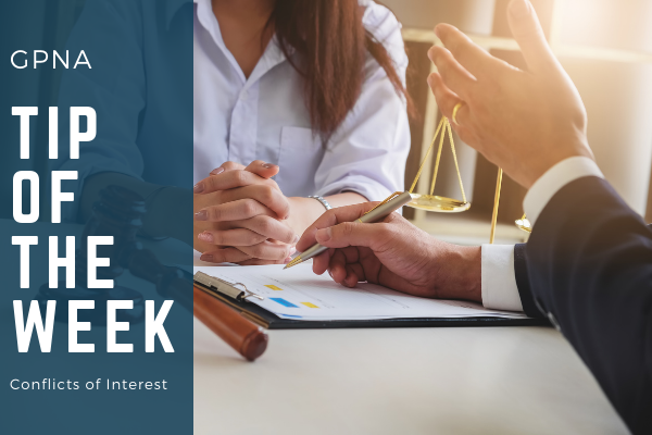 GPNA Tip of The Week: Conflicts of Interest  Media