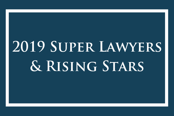 2019 Super Lawyers Announcement