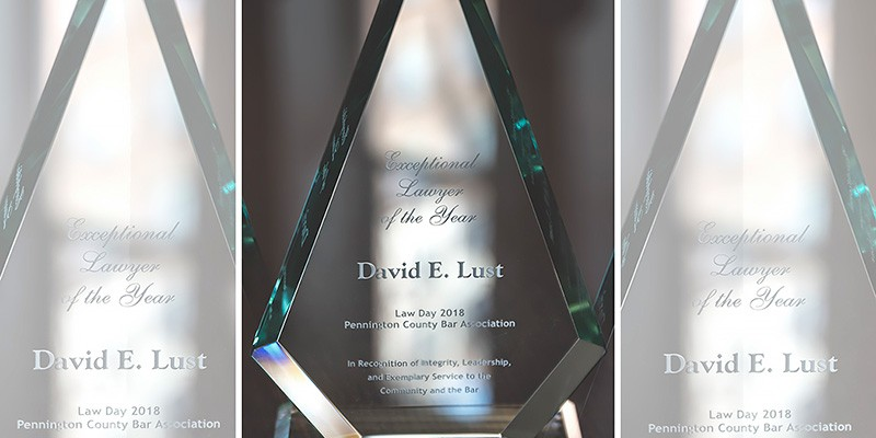 David Lust Named Exceptional Lawyer of the Year by Pennington County Bar