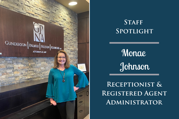 Staff Spotlight: Monae Johnson, Receptionist and Registered Agent Administrator